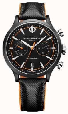Baume & Mercier Capeland | męskie | automatyczne | czarna skóra | czarna tarcza M0A10452