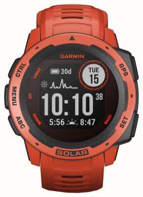 Garmin Instinct Solar GPS Ogniowo czerwony gumowy pasek 010-02293-20