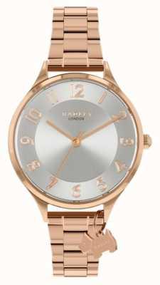 Radley Saksońska droga | bransoleta ze stali w kolorze różowego złota | srebrna tarcza RY4506