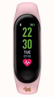 Radley Monitor aktywności | różowy gumowy pasek | Zawieszka dla psa w kolorze różowego złota RYS01-2008