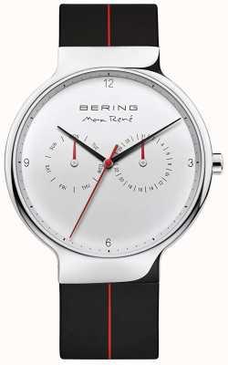 Bering Max rené | czarny gumowy pasek | srebrna tarcza 15542-404