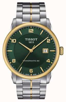 Tissot Luksusowy powermatic 80   zielona tarcza   bransoleta ze stali nierdzewnej T0864072209700