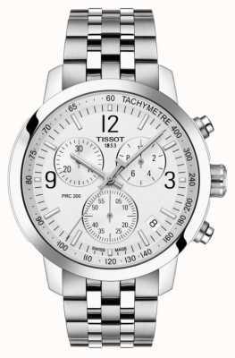 Tissot Prc 200 | chronograf | biała tarcza | Stal nierdzewna T1144171103700