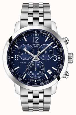 Tissot Prc 200 | chronograf | niebieska tarcza | pasek ze stali nierdzewnej T1144171104700