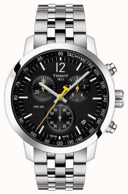 Tissot Prc 200 | chronograf | czarna tarcza | Stal nierdzewna T1144171105700