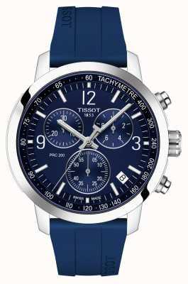 Tissot Prc 200 | chronograf | niebieska tarcza | niebieski gumowy pasek T1144171704700