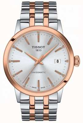 Tissot Swissmatic | srebrna tarcza | dwukolorowa bransoleta ze stali nierdzewnej T1294072203100