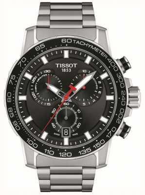 Tissot Supersport chrono | czarna tarcza | bransoleta ze stali nierdzewnej T1256171105100