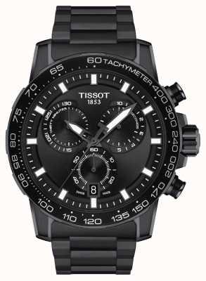 Tissot Supersport chrono | czarna tarcza | bransoleta ze stali pvd w kolorze czarnym T1256173305100