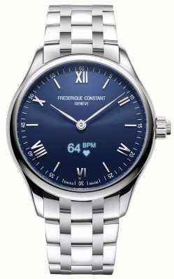 Frederique Constant Mężczyźni | witalność | smartwatch | niebieska tarcza | Stal nierdzewna FC-287N5B6B