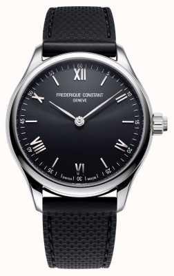 Frederique Constant Mężczyźni | witalność | smartwatch | czarna tarcza | czarna gumka FC-287B5B6