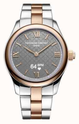 Frederique Constant Kobiety   witalność   smartwatch   szara tarcza   dwutonowy FC-286BG3B2B