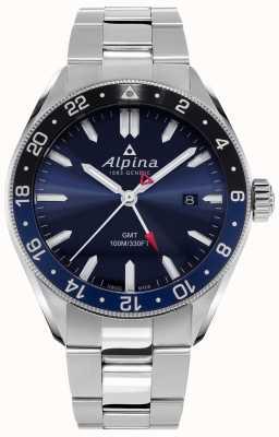 Alpina Alpiner Quartz GMT | niebieska tarcza | bransoleta ze stali nierdzewnej AL-247NB4E6B