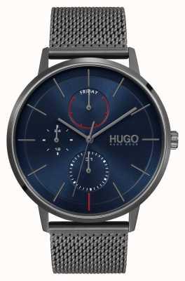 HUGO #istniejący biznes | niebieska tarcza | szary pasek z siatki 1530171