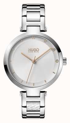 HUGO Panie #hope casual | srebrna tarcza | bransoleta ze stali nierdzewnej 1540076