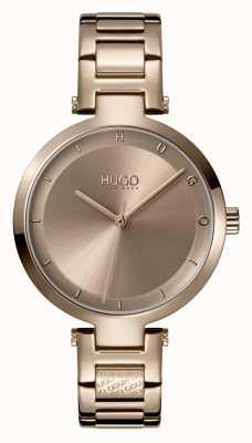 HUGO Panie #hope casual | beżowa tarcza | beżowa bransoletka ze stali ip 1540077