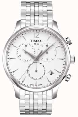 Tissot Tradycja   chronograf   biała tarcza   Stal nierdzewna T0636171103700