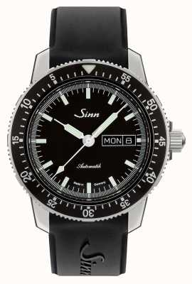 Sinn 104 st sa i klasyczny zegarek pilota z czarną gumą 104.010 BLACK RUBBER
