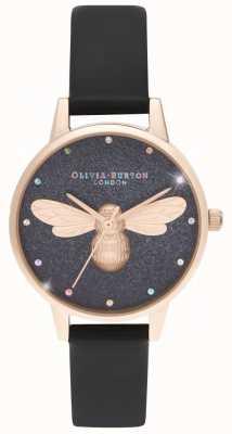 Olivia Burton Tęczowy wegański zegarek midi z tarczą lucky bee OB16FB13
