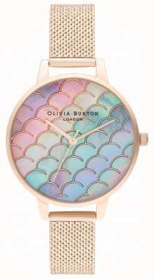 Olivia Burton Mermaid Tail Demi Dial z tarczą w kolorze różowego złota boucle OB16US45