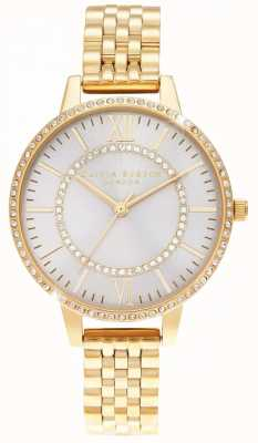 Olivia Burton Wonderland Blush Demi Dial złoty zegarek OB16WD90