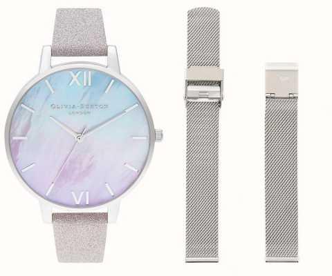 Olivia Burton Zestaw zegarków Ombre z masy perłowej OBGSET143