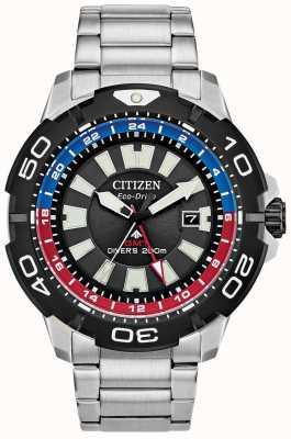 Citizen Promaster Diver GMT | bransoleta ze stali nierdzewnej | czarna tarcza BJ7128-59E