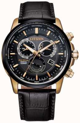 Citizen Zegarek z wiecznym kalendarzem Caliber 8700 | ciemnobrązowa skóra BL8156-12E
