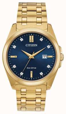 Citizen Zegarek Corso eco-drive pozłacany z pvd BM7103-51L