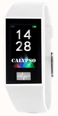 Calypso Unisex | smartime | biały pasek silikonowy + pasek gratis K8500/1