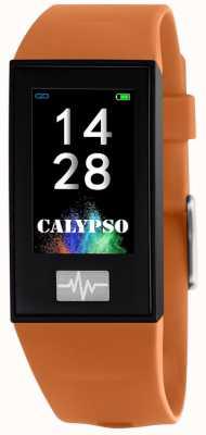 Calypso Unisex | smartime | pomarańczowy pasek silikonowy + pasek gratis K8500/3