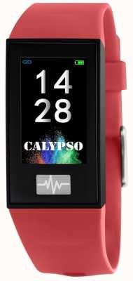 Calypso Unisex | smartime | czerwony pasek silikonowy + pasek gratis K8500/4