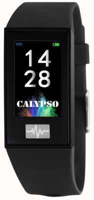 Calypso Unisex | smartime | czarny silikonowy pasek + bezpłatny pasek K8500/6