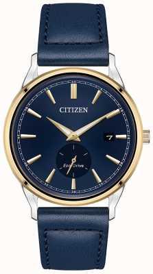 Citizen Ekologiczny niebieski skórzany niebieski zegarek z tarczą BV1114-18L