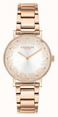 Coach Perry damskie | bransoleta ze stali w kolorze różowego złota | srebrna tarcza 14503639