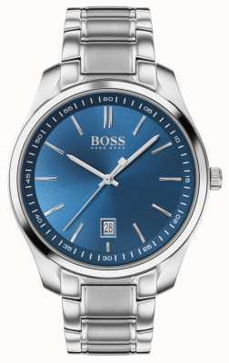 BOSS Obwód sportowy lux | bransoleta ze stali nierdzewnej | niebieska tarcza 1513731