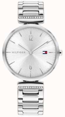 Tommy Hilfiger | damskie | aria | srebrna bransoletka ze stali nierdzewnej | srebrna tarcza | 1782273