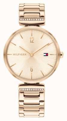 Tommy Hilfiger Aria dla kobiet | bransoleta ze stali w kolorze różowego złota | tarcza z różowego złota 1782271
