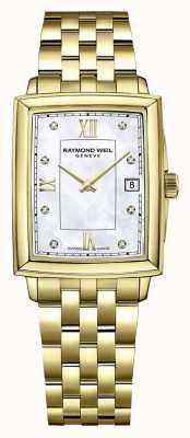 Raymond Weil Toccata dla kobiet | bransoletka pokryta złotem pvd | tarcza z diamentami 5925-P-00995