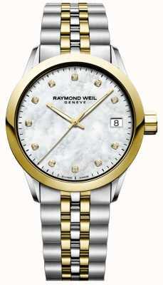 Raymond Weil Kobiety | wolny strzelec | diament | masa perłowa | dwutonowy 5634-STP-97081