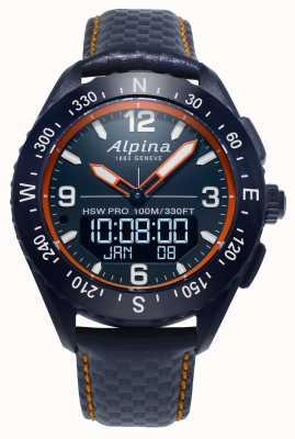Alpina Skórzany pasek do smartwatcha Alpinerx w kolorze granatowym AL-283LNO5NAQ6L