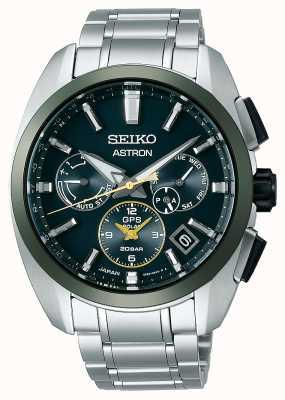 Seiko Astron GPS, limitowana edycja, zielony i złoty SSH071J1