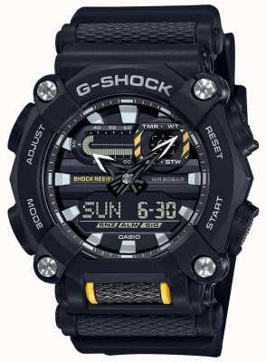 Casio G-shock | ciężkie | czas światowy | czarna żywica GA-900-1AER