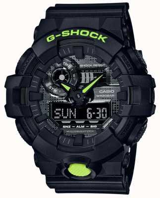Casio G-shock | kamuflaż cyfrowy | czarna żywica GA-700DC-1AER