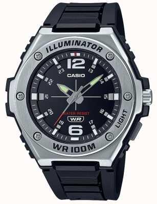 Casio Oświetlacz | czarna tarcza | czarny pasek z żywicy MWA-100H-1AVEF
