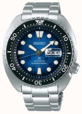 Seiko Mężczyźni ratują ocean   bransoleta ze stali nierdzewnej   niebieska tarcza SRPE39K1
