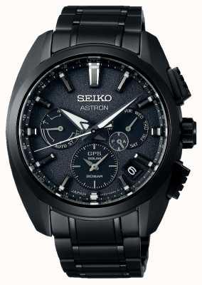 Seiko Astron | czarna tarcza | czarny tytan | GPS | chronograf SSH069J1