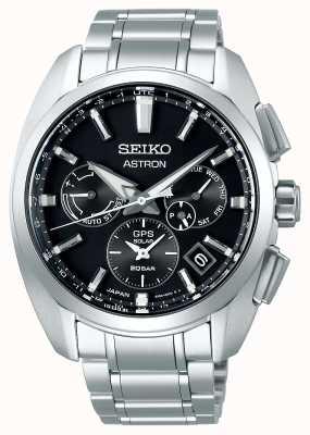 Seiko Astron | tytan | słoneczna | czarna tarcza | chronograf SSH067J1