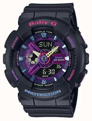 Casio Fioletowy zegarek Baby-g Decora z detalami BA-110TM-1AER