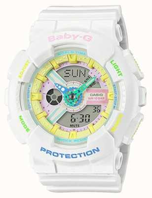 Casio Baby-g zegarek z tęczowymi detalami BA-110TM-7AER